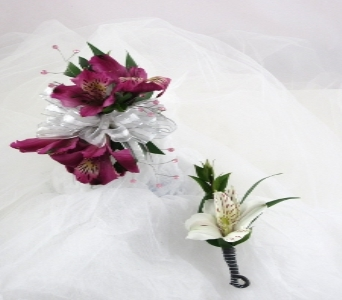 Amazing Alstro Corsage and Bout. in Cary NC, Cary Florist