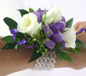 A Blast of Purple Corsage in Cary NC, Cary Florist
