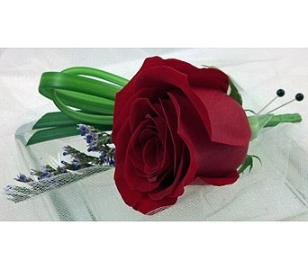 Classic Red Rose Boutonniere in Cary NC, Cary Florist