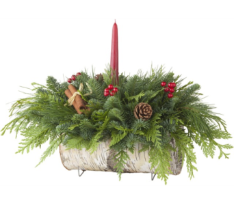Yule Centerpiece in Traverse City MI, Teboe Florist