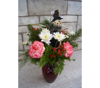 Jolly Snowman Bouquet in Muskegon MI, Wasserman's Flower Shop