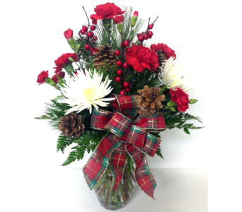 Christmas Cheer Vase Arrangement in Wyoming MI, Wyoming Stuyvesant Floral