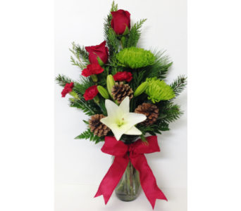 Bright Holiday Vase Arrangement in Wyoming MI, Wyoming Stuyvesant Floral