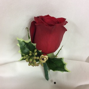 Holiday Gentleman Boutonniere in Medfield MA, Lovell's Flowers, Greenhouse & Nursery