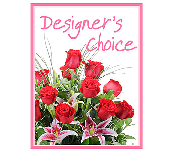 Designer's Choice - Valentine's Day in Mount Morris MI, June's Floral Company & Fruit Bouquets