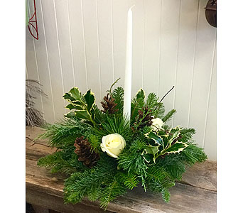 White Light Centerpiece in Northfield MN, Forget-Me-Not Florist
