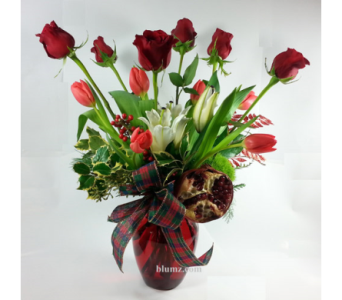 Holiday Roses and Tulips in Ferndale MI, Blumz...by JRDesigns