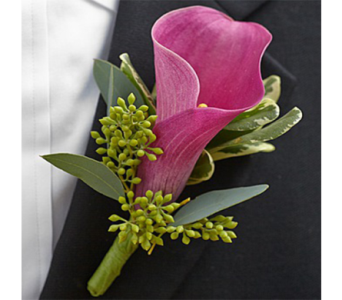Mini Calla Lily Boutonniere in Indianapolis IN, George Thomas Florist