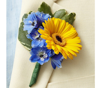 Country Harvest Boutonniere in Indianapolis IN, George Thomas Florist