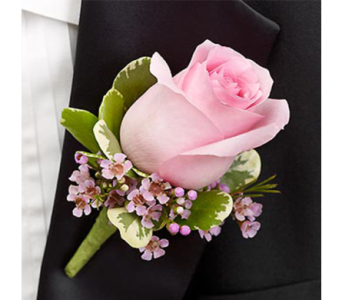 Pink Boutonniere in Indianapolis IN, George Thomas Florist