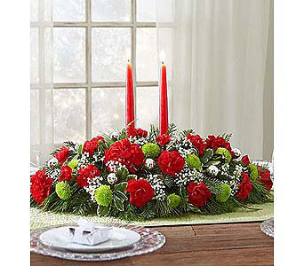 Season�s Greetings Centerpiece-Large in Palm Desert CA, Milan's Flowers & Gifts