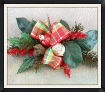 Christmas Greens Corsage in Tyler TX, The Flower Box