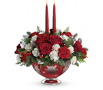 Teleflora's Silver And Joy Centerpiece in Palm Springs CA, Palm Springs Florist, Inc.