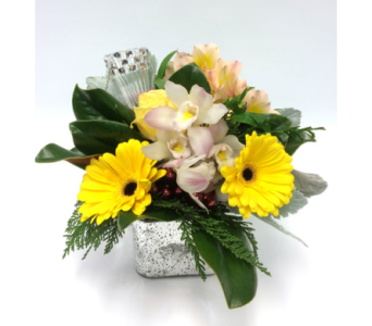 Happy Silver Cube in Belleville ON, Live, Love and Laugh Flowers, Antiques and Gifts