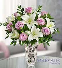 Marquis by Waterford® Purple Rose & Lily Bouquet in Jupiter FL, Anna Flowers