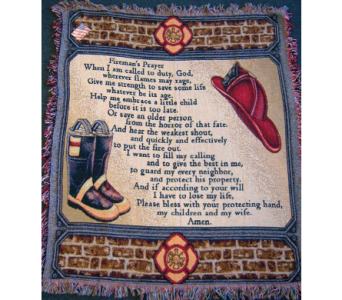 Fireman's Prayer Woven Throw in Tipp City OH, Tipp Florist Shop