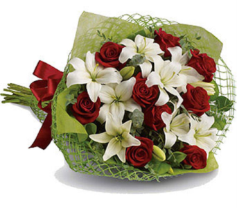Red Roses and Lilies in Orillia ON, Orillia Square Florist