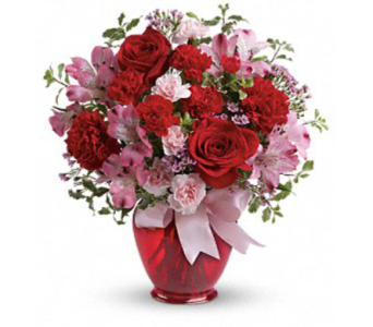 February's Charity Bouquet, Blissfully Yours in Casper WY, Keefe's Flowers
