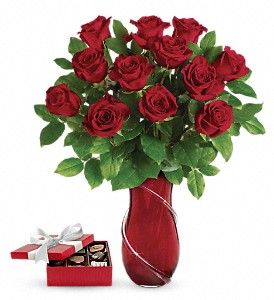 Wrapped In Roses Bouquet with chocolates in Markham ON, Metro Florist Inc.