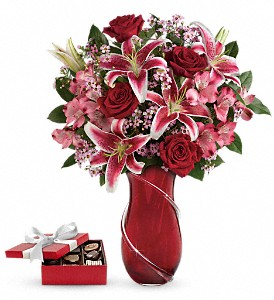 Wrapped With Passion Bouquet with chocolates in Markham ON, Metro Florist Inc.