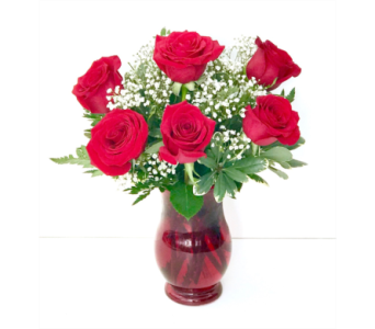 6 Rose Vase Special in New Glasgow NS, McKean's Flowers Ltd.