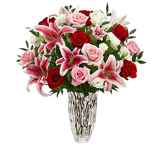 Marquis Red Rose & Lily Bouquet