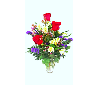 3 Roses Vased  in Florence AL, Kaleidoscope Florist & Designs