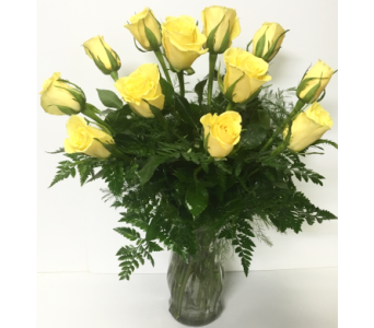 Dozen Long-Stem Yellow Roses in Wyoming MI, Wyoming Stuyvesant Floral