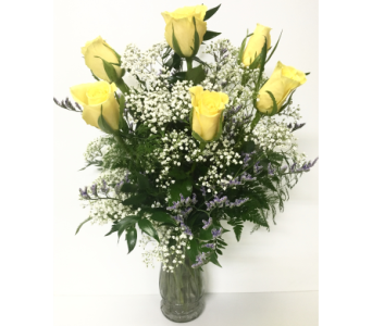 6 Yellow Roses Arrangement in Wyoming MI, Wyoming Stuyvesant Floral