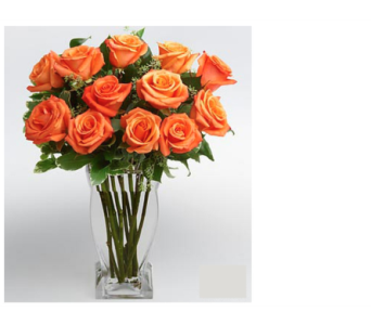 Dozen Orange Roses in Metropolis IL, Creations The Florist