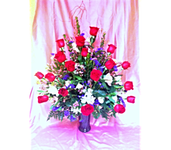 18 Roses Vased in Florence AL, Kaleidoscope Florist & Designs