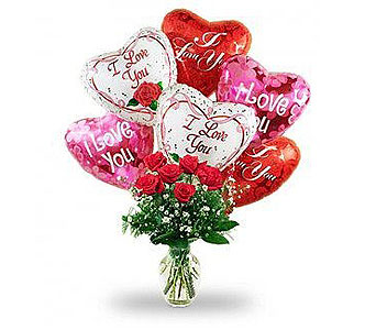 Roses & Balloons in Laurel MD, Rainbow Florist & Delectables, Inc.