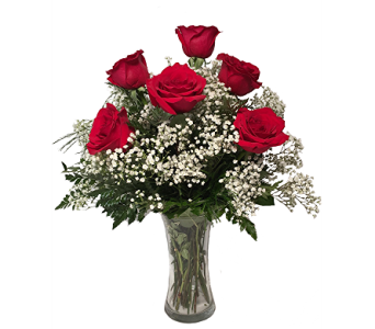 George''s 1/2 Dozen Red Roses Arranged in Madison WI, George's Flowers, Inc.