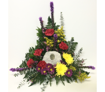 Those We Have Held Stone in Bright Arrangement in Wyoming MI, Wyoming Stuyvesant Floral