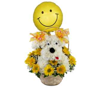 Delightful Doggie Smiley Face Bouqu  in Southfield MI, Thrifty Florist
