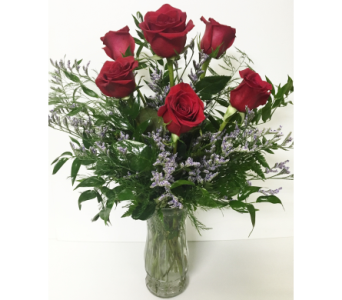 6 Red Rose Arrangement in Wyoming MI, Wyoming Stuyvesant Floral