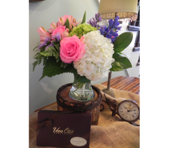 Summertime Delight with Chocolates in Westfield MA, Flowers by Webster