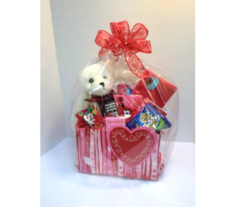 Valentine's Snack Box With Plush in Metropolis IL, Creations The Florist