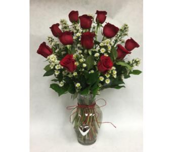 roses with brooch in Staten Island NY, Eltingville Florist Inc.