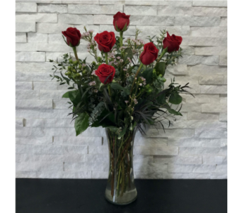Half Dozen Rose Arrangement in Ft. Collins CO, Palmer Flowers
