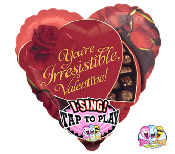 VB107  Simply Irresistible Singing Balloon in Oklahoma City OK, Array of Flowers & Gifts