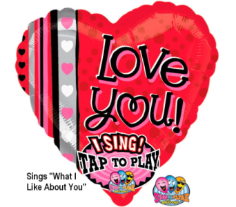 VB108 Love You Singing Mylar Balloon in Oklahoma City OK, Array of Flowers & Gifts
