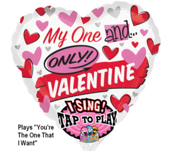 VB110 Valentine Singing Mylar Balloon  in Oklahoma City OK, Array of Flowers & Gifts