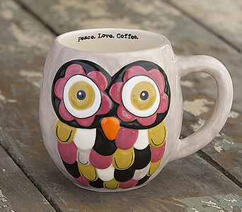 GRAY OWL MUG in Muskegon MI, Wasserman's Flower Shop