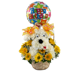 Delightful Doggie Happy Birthday Bouqu  in Southfield MI, Thrifty Florist