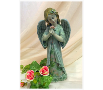 Standing Angel with Rose In Hand in Owensboro KY, Welborn's Floral Company