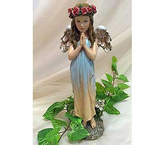 Praying Angel with Rose Halo in Owensboro KY, Welborn's Floral Company