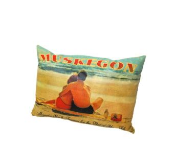 Treasured Memories Muskegon Indoor/Ourdoor Pillow in Muskegon MI, Wasserman's Flower Shop