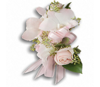 Beautiful Blush Corsage in Indianapolis IN, George Thomas Florist
