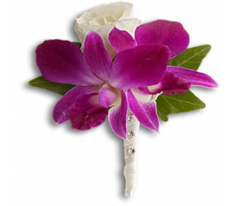 Fresh in Fuchsia Boutonniere in Indianapolis IN, George Thomas Florist